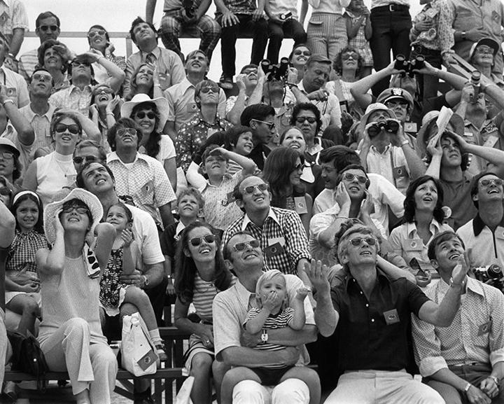 Crowd at SL 1 Launch 1973- Photo: NASA Archives