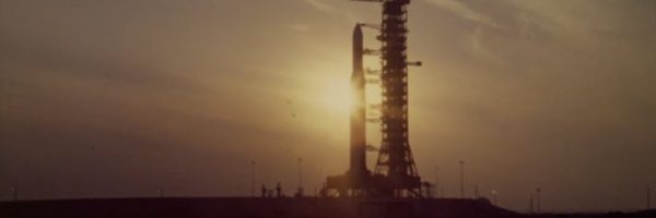 Rocket in Full in Sunset on Launchpad 500x730